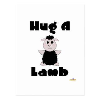 Huggable Black Sheep Hug A Lamb Postcard