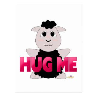 Huggable Black Sheep Pink Hug Me Postcard