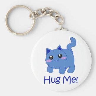 huggable blue kitten keychain