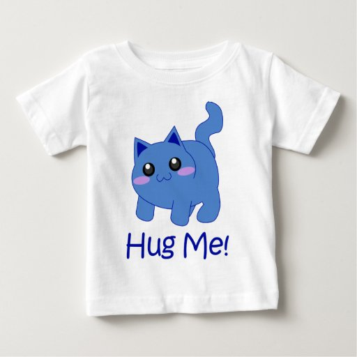 huggable blue kitten t shirts
