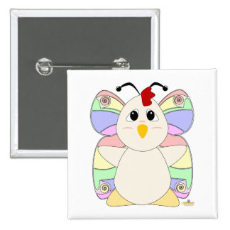 Huggable Butterfly White Chicken Buttons