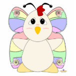 Huggable Butterfly White Chicken Photo Sculpture
