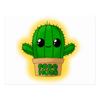 Huggable Cactus Postcard