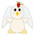 Huggable Chicken Angel Photo Cutouts