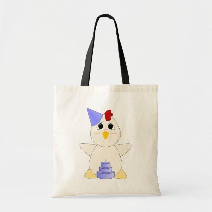 Huggable Chicken Birthday Boy Tote Bag