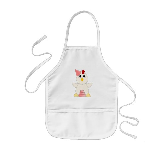 Huggable Chicken Birthday Girl Kids' Apron