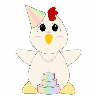 Huggable Chicken Birthday Pastels Statuette