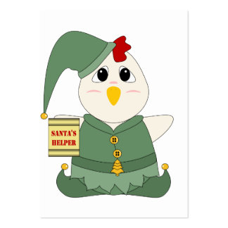 Huggable Chicken Elf Large Business Cards (Pack Of 100)