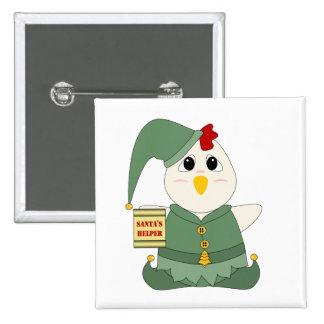 Huggable Chicken Elf Pin