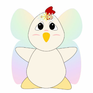 Huggable Chicken Flower Fairy Photo Cut Out