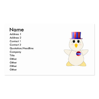 Huggable Chicken Voting Business Card Template