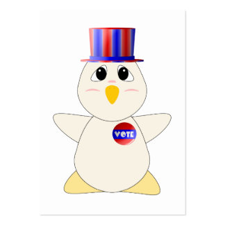 Huggable Chicken Voting Business Cards