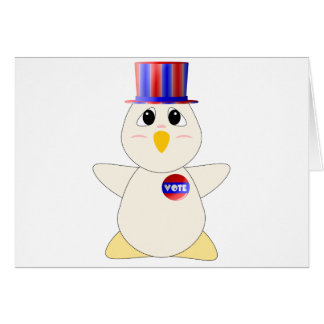Huggable Chicken Voting Greeting Card