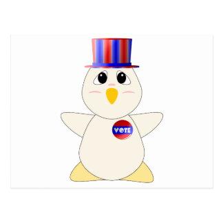 Huggable Chicken Voting Postcards