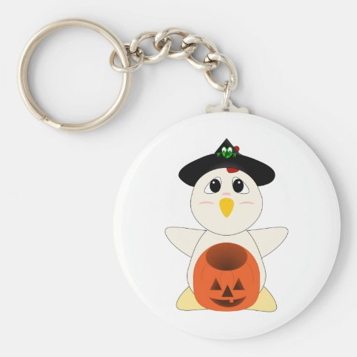 Huggable Chicken Witch Key Chains