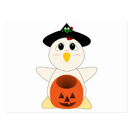 Huggable Chicken Witch Postcard
