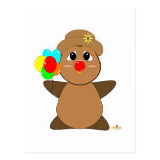 Huggable Clown Brown Owl Post Card