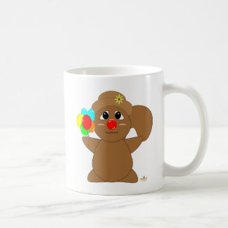 Huggable Clown Brown Squirrel Coffee Mug
