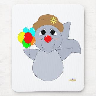 Huggable Clown Dolphin Mouse Pad