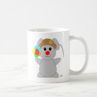 Huggable Clown Gray Mouse Coffee Mug