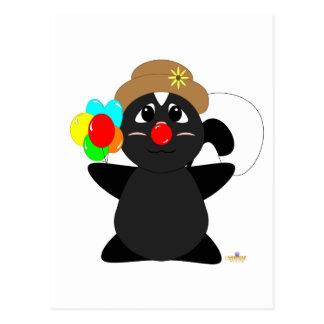 Huggable Clown Skunk Postcard