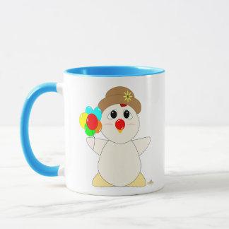 Huggable Clown White Chicken Mug