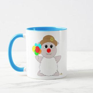 Huggable Clown White Sheep Mug