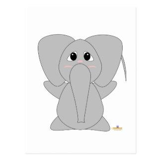 Huggable Elephant Postcard