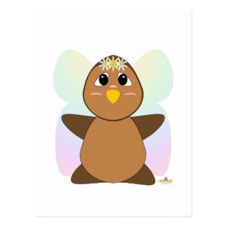 Huggable Fairy Brown Owl Postcard