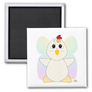 Huggable Fairy White Chicken Magnet