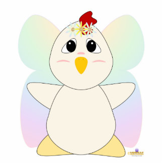 Huggable Fairy White Chicken Photo Cut Out