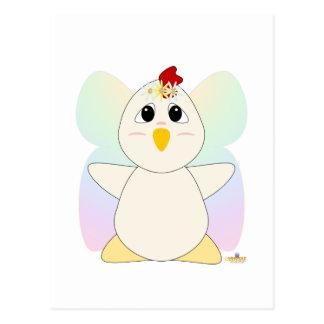 Huggable Fairy White Chicken Postcards
