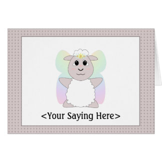 Huggable Fairy White Sheep Card