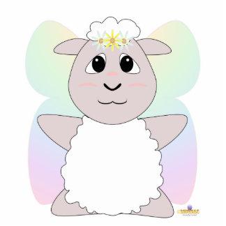 Huggable Fairy White Sheep Photo Sculptures
