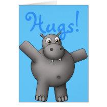 Huggable Hippo Card