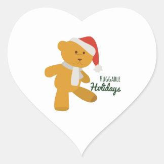 Huggable Holdiays Heart Sticker