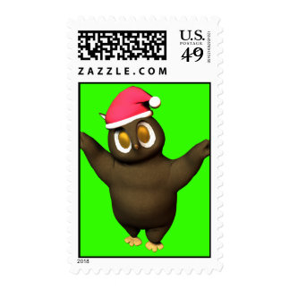 Huggable Holiday Owl! Postage Stamps