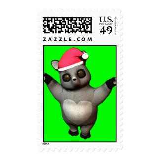Huggable Holiday Raccoon! Stamp