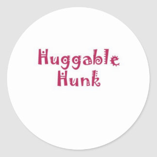 Huggable Hunk Classic Round Sticker