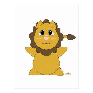 Huggable Lion Postcard