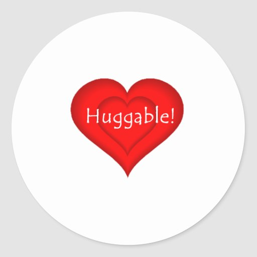 Huggable Love Classic Round Sticker