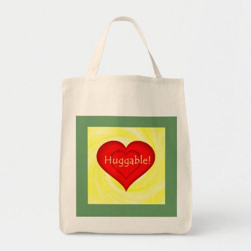 Huggable Love Grocery Tote Bag
