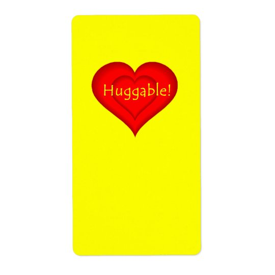 Huggable Love Label
