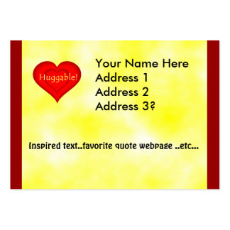 Huggable Love Large Business Card