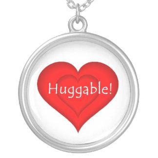 Huggable Love Round Pendant Necklace