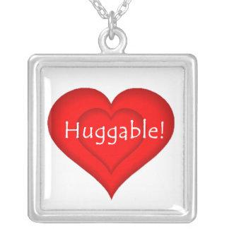 Huggable Love Square Pendant Necklace