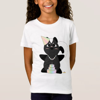 Huggable Pastel Birthday Skunk T-Shirt