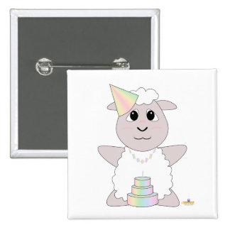 Huggable Pastel Birthday White Sheep Pins
