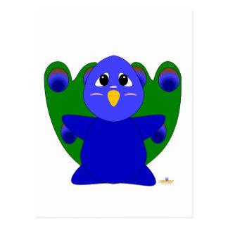 Huggable Peacock Postcard