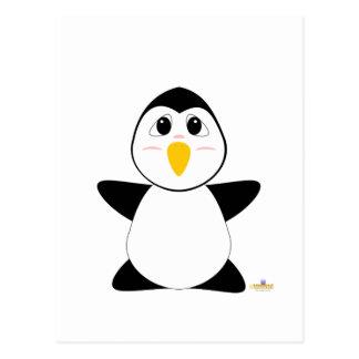 Huggable Penguin Postcard